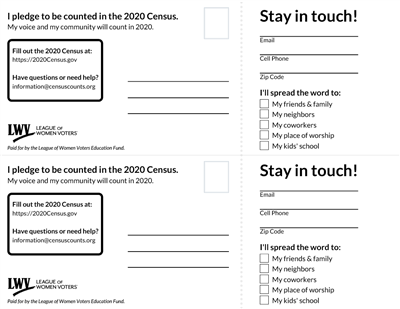 2020 Census Perforated Card