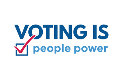 Voting is people power postcard